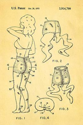 1975 Photograph - Newmar Pantyhose Patent Art 2 1975 by Ian Monk