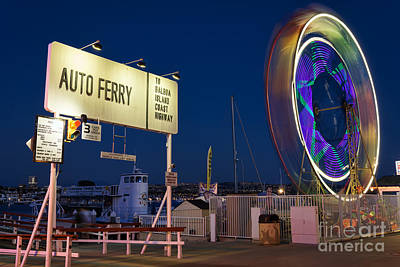 Photograph - Newport Beach Auto Ferry by Eddie Yerkish
