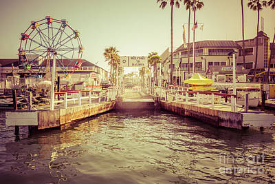 Tinted Photograph - Newport Beach Balboa Island Ferry Dock Photo by Paul Velgos