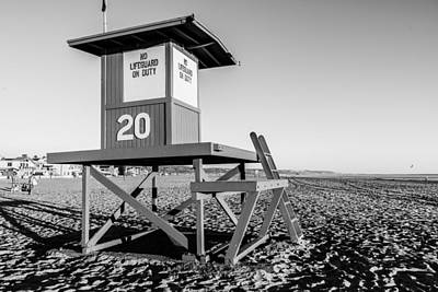 Whalen Photograph - Newport Beach Black And White Series Ten by Josh Whalen