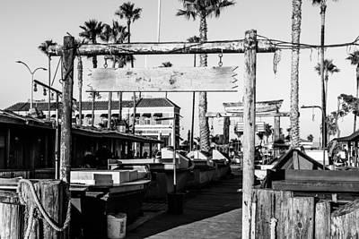 Whalen Photograph - Newport Beach Black And White Series Three by Josh Whalen
