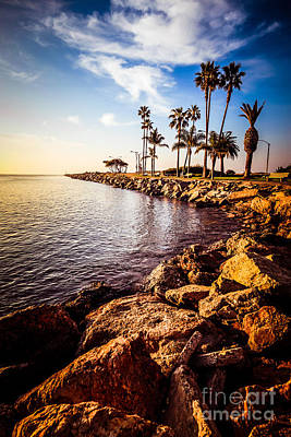 Beach Nobody Photograph - Newport Beach Jetty Picture At Jetty View Park by Paul Velgos