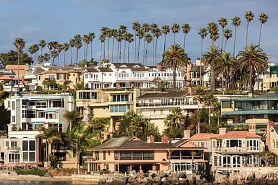 Corona Del Mar Photograph - Newport Beach Luxury Homes In Corona Del Mar California by Paul Velgos