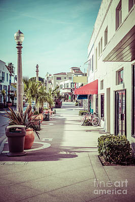 Storefront Photograph - Newport Beach Main Street Balboa Peninsula Picture by Paul Velgos