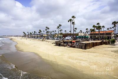 Newport Beach Oceanfront Businesses With Dory Fleet Art Print by Paul Velgos