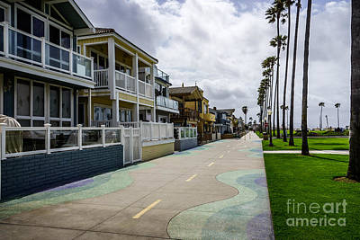 Upscale Photograph - Newport Beach Oceanfront Homes In Orange County California by Paul Velgos