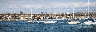 Upscale Photograph - Newport Beach Panorama by Paul Velgos