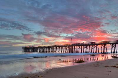 Photograph - Newport Beach Pier At Sunset by Cliff Wassmann