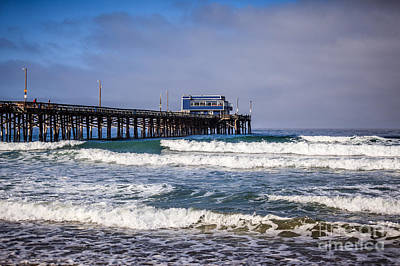 Newport Beach Pier In Orange County California Art Print