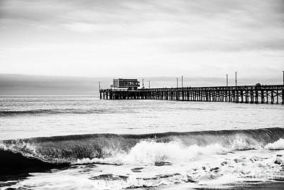 Docked Photograph - Newport Beach Pier by Paul Velgos