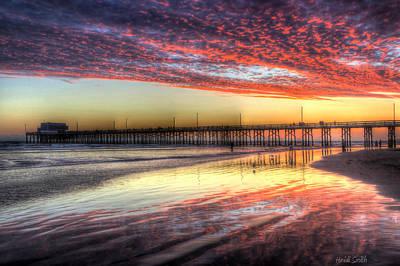 Photograph - Newport Beach Pier Sunset by Heidi Smith