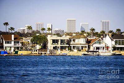 Upscale Photograph - Newport Beach Skyline And Waterfront Homes Picture by Paul Velgos