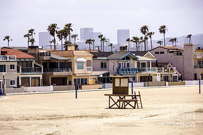 Upscale Photograph - Newport Beach Skyline And Waterfront Luxury Homes by Paul Velgos