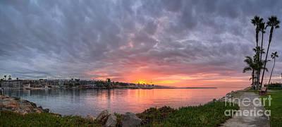 Photograph - Newport Beach Sunrise by Eddie Yerkish