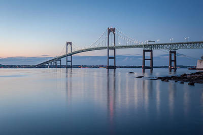 Photograph - Newport Bridge At Twilight by Joshua McDonough