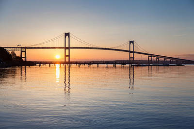 Photograph - Newport Bridge Sunrise by Joshua McDonough