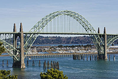 Photograph - Newport Bridge by Wes and Dotty Weber