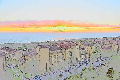 Newport Coast Sunset Art Print by Penny Lisowski
