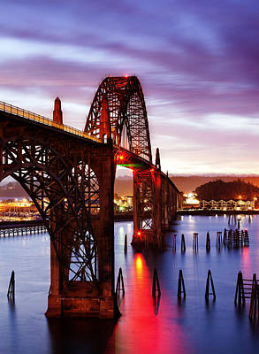 Yaquina Bay Bridge Photograph - Newport Dawn by Darren  White