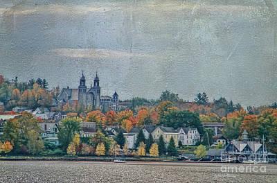 Newport In Autumn Print by Deborah Benoit