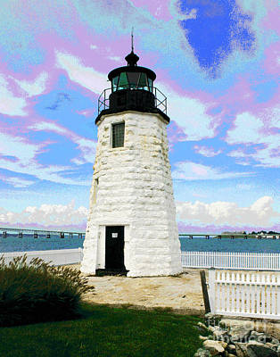 Photograph - Newport Lighthouse by Larry Oskin