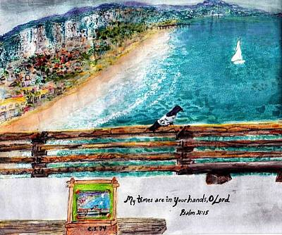 Saldana Painting - Newport Pier by Catherine Saldana