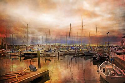 Newport Rhode Island Harbor I Art Print by Betsy Knapp