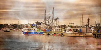 Shipyard Photograph - Newport Rhode Island Harbor II by Betsy Knapp