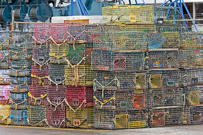 Crabs Photograph - Newport Rhode Island Traps II by Betsy Knapp
