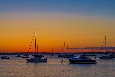 Newport Ri Sunset Art Print by Sean Mackie