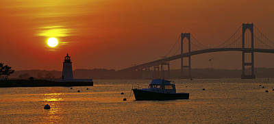 Newport Sunset Art Print by Lou Ford