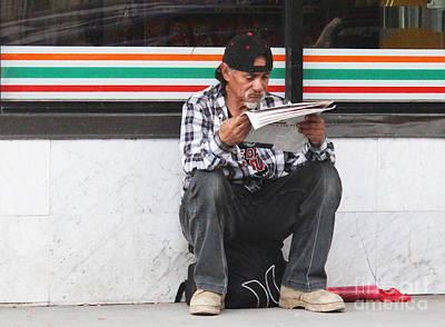 On Paper Photograph - News Central by Joe Jake Pratt