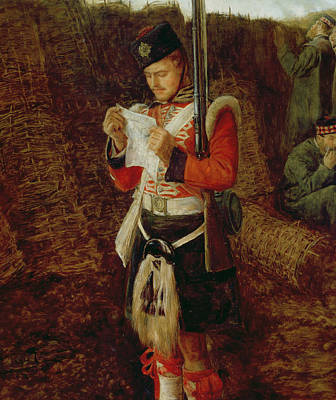 Armed Forces Painting - News From Home by Sir John Everett Millais