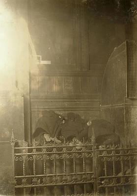 Grate Photograph - Newsboys Sleeping, 1909 by Granger