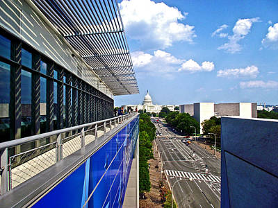 Newseum Photograph - Newseum On Pensylvania Avenue In Washington Dc by Ruth Hager