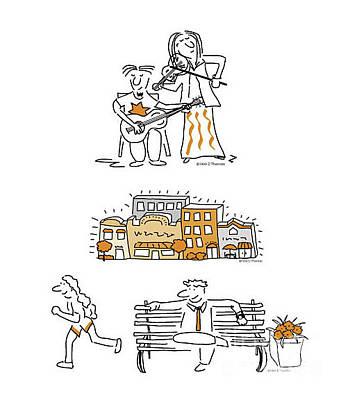 Digital Art - Newsletter Cartoons Composite by Diane Thornton