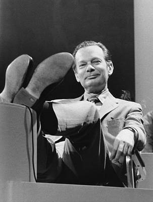 Personalities Photograph - Newsman David Brinkley by Underwood Archives