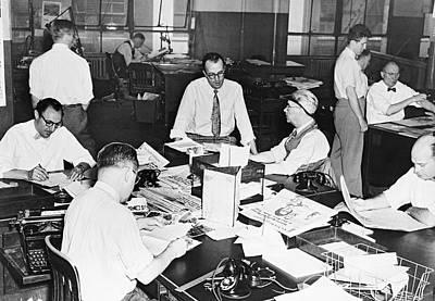 Newspaper City Desk Editors Art Print