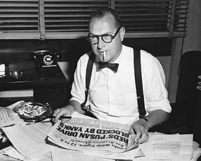 Newspaper Editor Larry Fanning Art Print