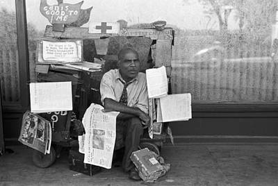 Black Commerce Photograph - Newspaper Peddler, 1938 by Granger