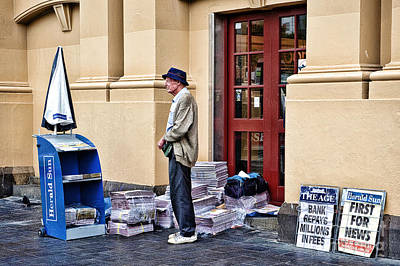 Photograph - Newspaper Seller by Yew Kwang