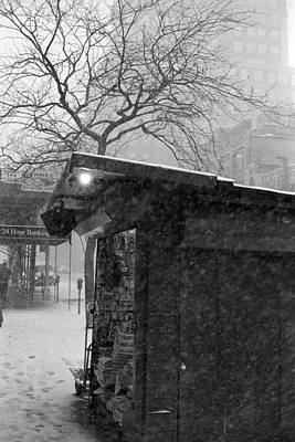 Photograph - Newsstand In Snow by Dave Beckerman
