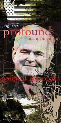 Newts Mixed Media - Newt Gingrich by Michael Mathews