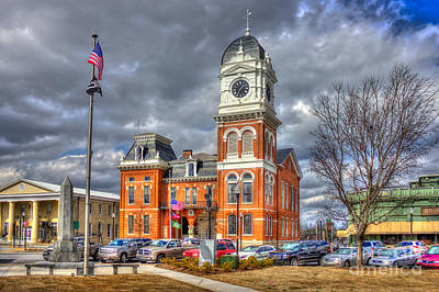 Photograph - Historic Newton County Court House  by Reid Callaway