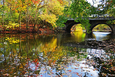 Charles River Photograph - Newton Upper Falls Autumn Foliage by Toby McGuire