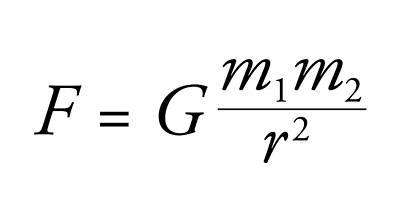 Newton's Law Of Universal Gravitation Art Print
