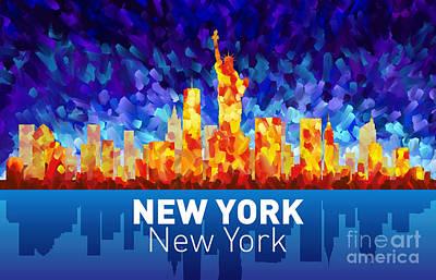 Painting - Newyork Ny2 Skyline by Tim Gilliland