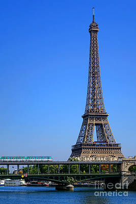 Next Stop Eiffel Tower Art Print by Olivier Le Queinec