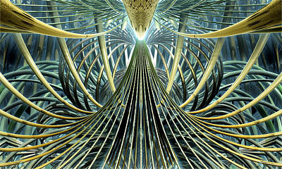 Monochromatic Digital Art - Nexus by Kevin Trow