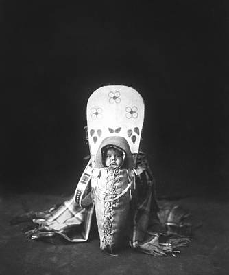 Native American Photograph - Nez Perce Babe Circa 1899 by Aged Pixel